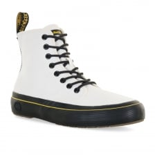 Dr. Martens Womens Monet 8 Eye Canvas Boots (White)