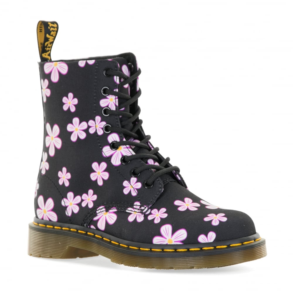 Dr. Martens Womens Page Meadow Floral Boots (Black) - Womens from ... 114d2491c