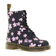 Dr. Martens Womens Page Meadow Floral Boots (Black)