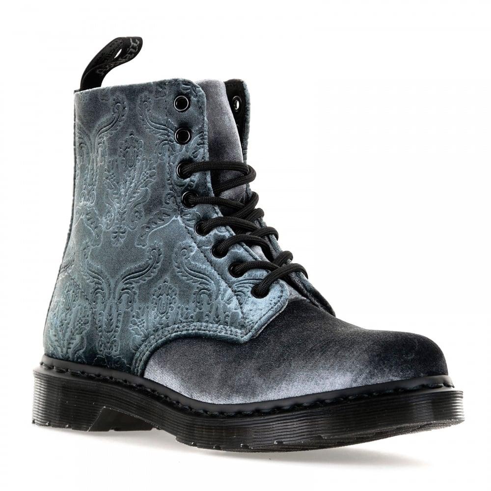 Dr Martens Womens Pascal Velvet 316 Boots Grey Womens