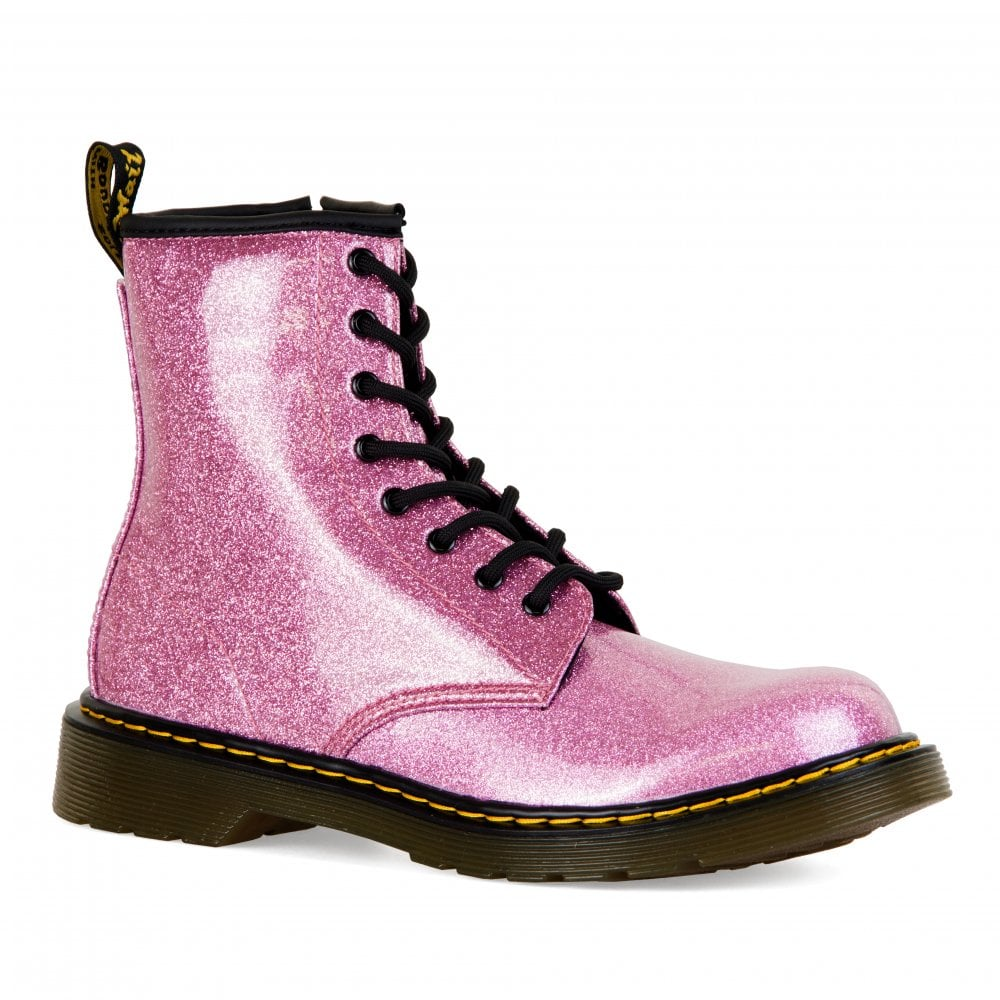 really cheap buy real better Youths 1460 Glitter Boots (Pink)