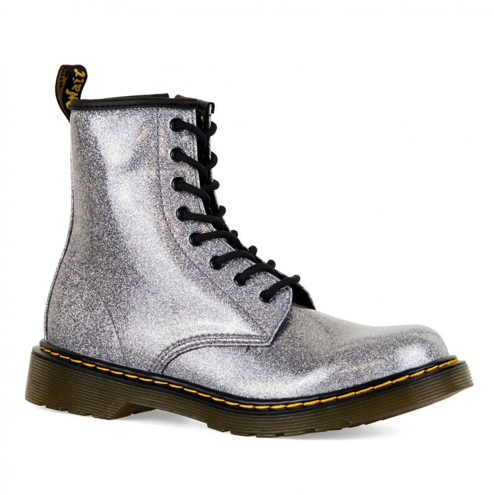 Dr. Martens Youths 1460 Glitter Boots (Silver) - Kids from Loofes UK 40e0428473bb