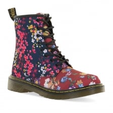 Dr. Martens Youths Delaney Floral Boots (Red)