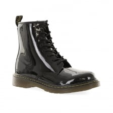 Dr. Martens Youths Delaney Patent 10-5 Boots (Black)