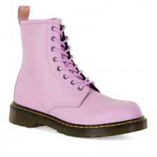Dr. Martens Youths Delaney Pebble Leather Boots (Pink)