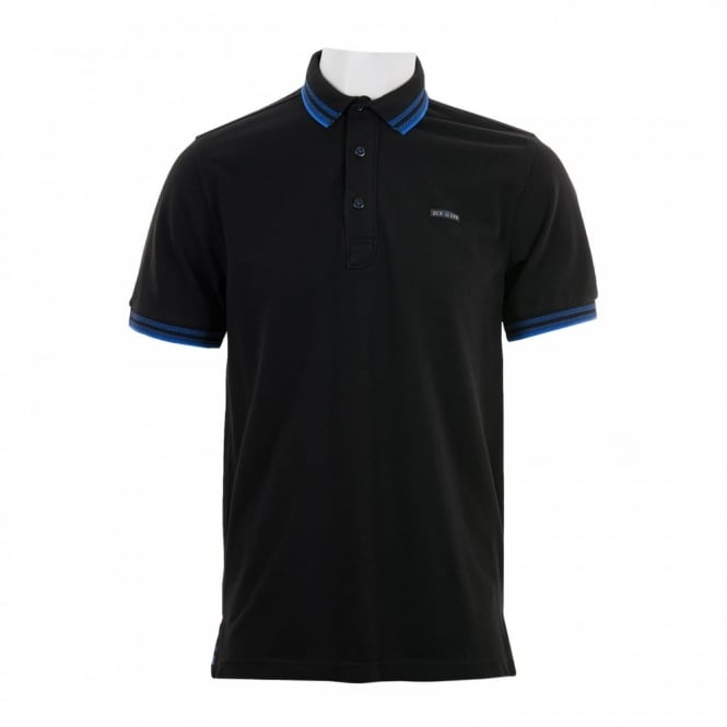 Duck And Cover Mens Acute Polo Shirt (Black)