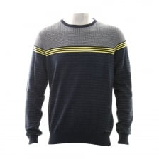 Duck And Cover Mens Bearing Two Tone Knit (Navy)