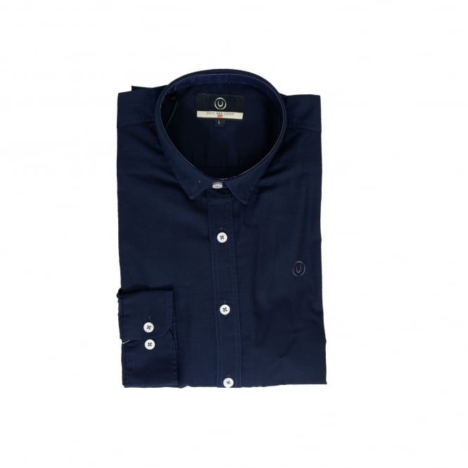Duck And Cover Mens Birch Shirt (Navy)