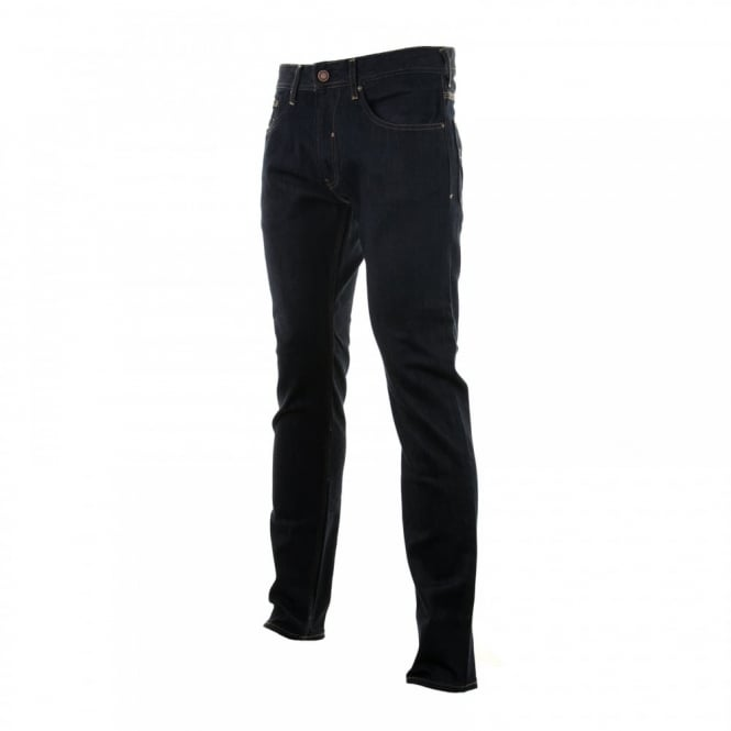 Duck And Cover Mens Boxren Stretch Fit Jeans (LA Raw Blue)