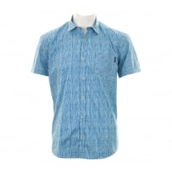 Duck And Cover Mens Heller Patterned Shirt (Petrol)