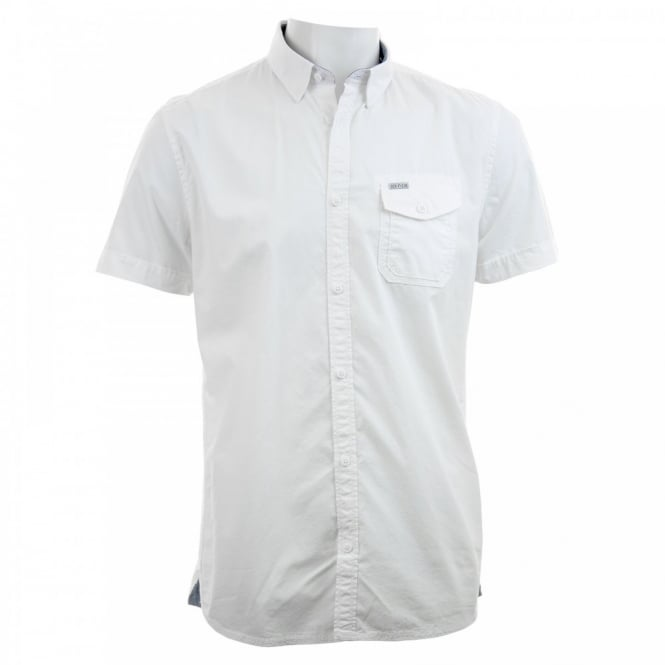 Duck And Cover Mens Jasper Fil A Fil Shirt (White)