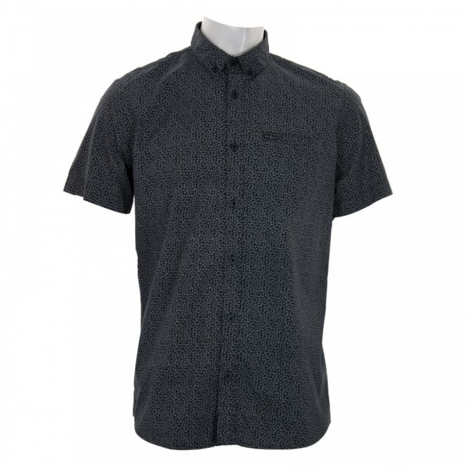 Duck And Cover Mens Marcus Pattern Shirt (French Navy)