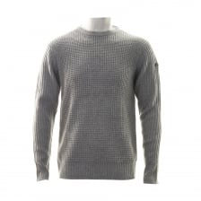 Duck And Cover Mens Oban Cable Knit Crew Neck Sweater (Grey)