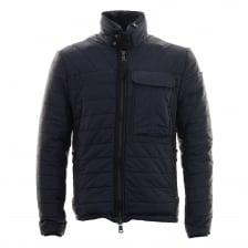Duck And Cover Mens Outland Quilted Jacket (Deep Navy)