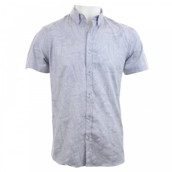 Duck And Cover Mens Pattern Shirt (Midnight)