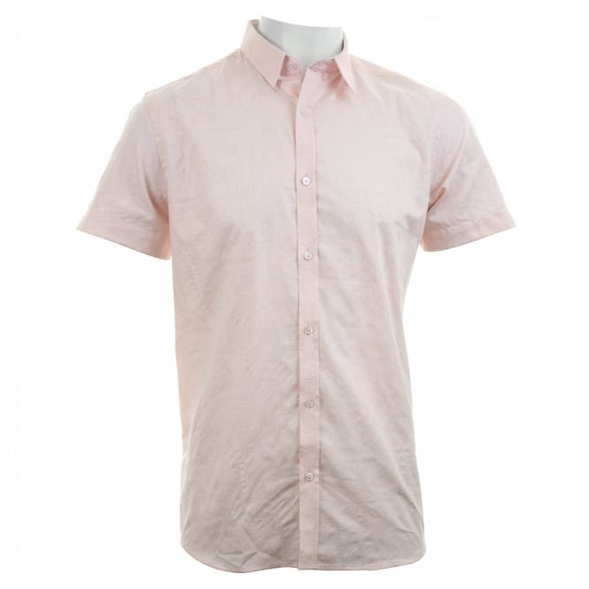 Duck And Cover Mens Pattern Shirt (Peach)