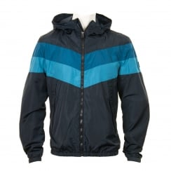 Duck And Cover Mens Pennant Windbreaker Coat (French Navy)