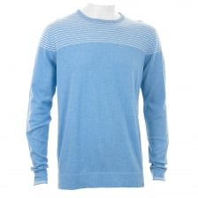 Duck And Cover Mens Ramirez Stripe Knitwear (Ice Blue/White)