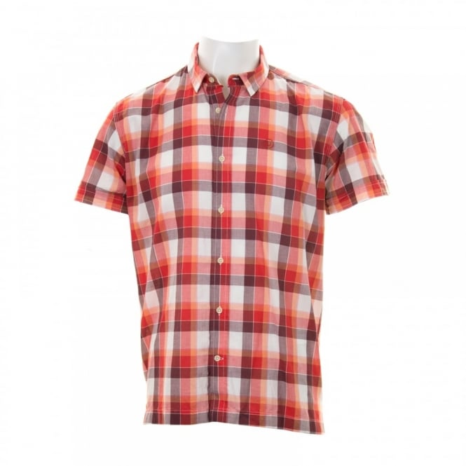 Duck And Cover Mens Rebelo Check Shirt (Poppy)