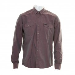 Duck And Cover Mens Richardson Shirt (Maroon)