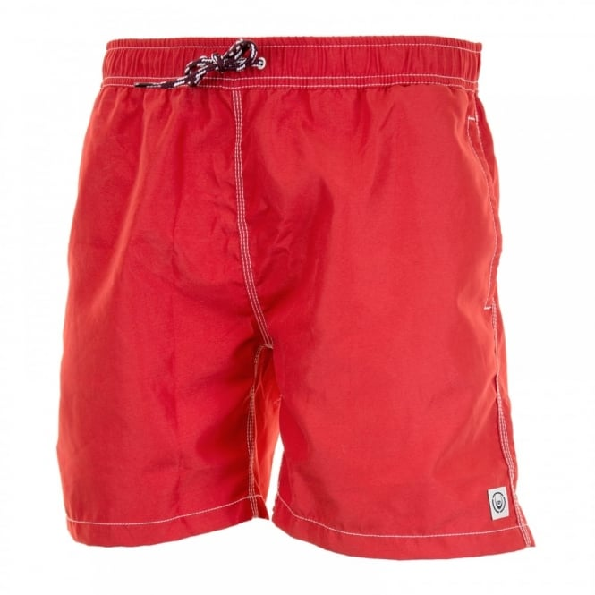 Duck And Cover Mens Swenson Swim Shorts (Red)