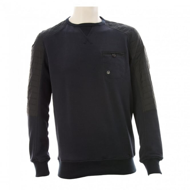 Duck And Cover Mens Thaxted Crew Sweater (Navy)