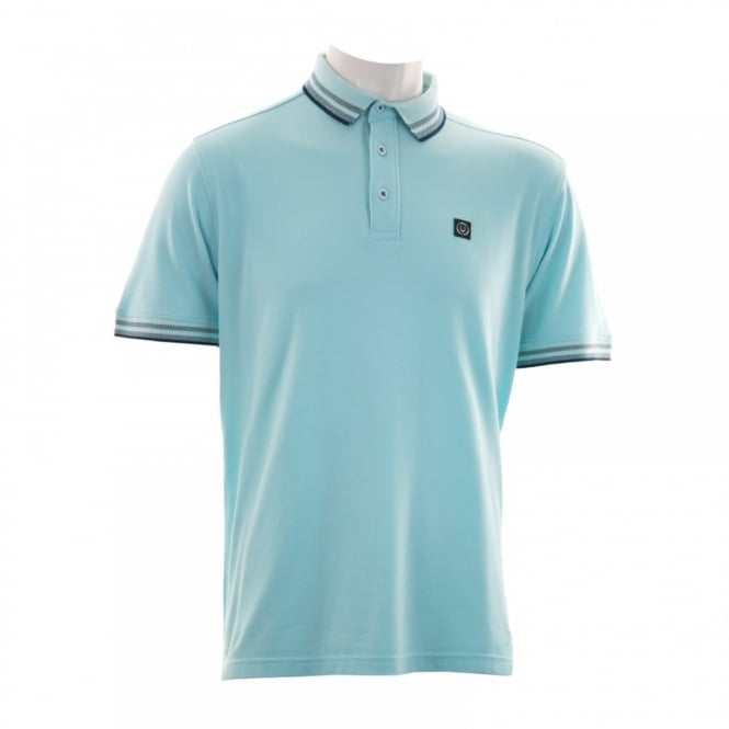 Duck And Cover Mens Tipped Collar Polo Shirt (New Sky Blue)