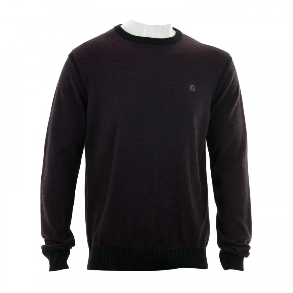 Duck And Cover Mens Yardem Plain Knit Sweater Black