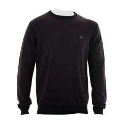 Duck And Cover Mens Yardem Plain Knit Sweater (Black)