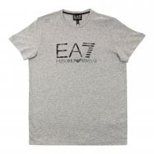 EA7 Juniors Camo Logo T-Shirt (Grey)