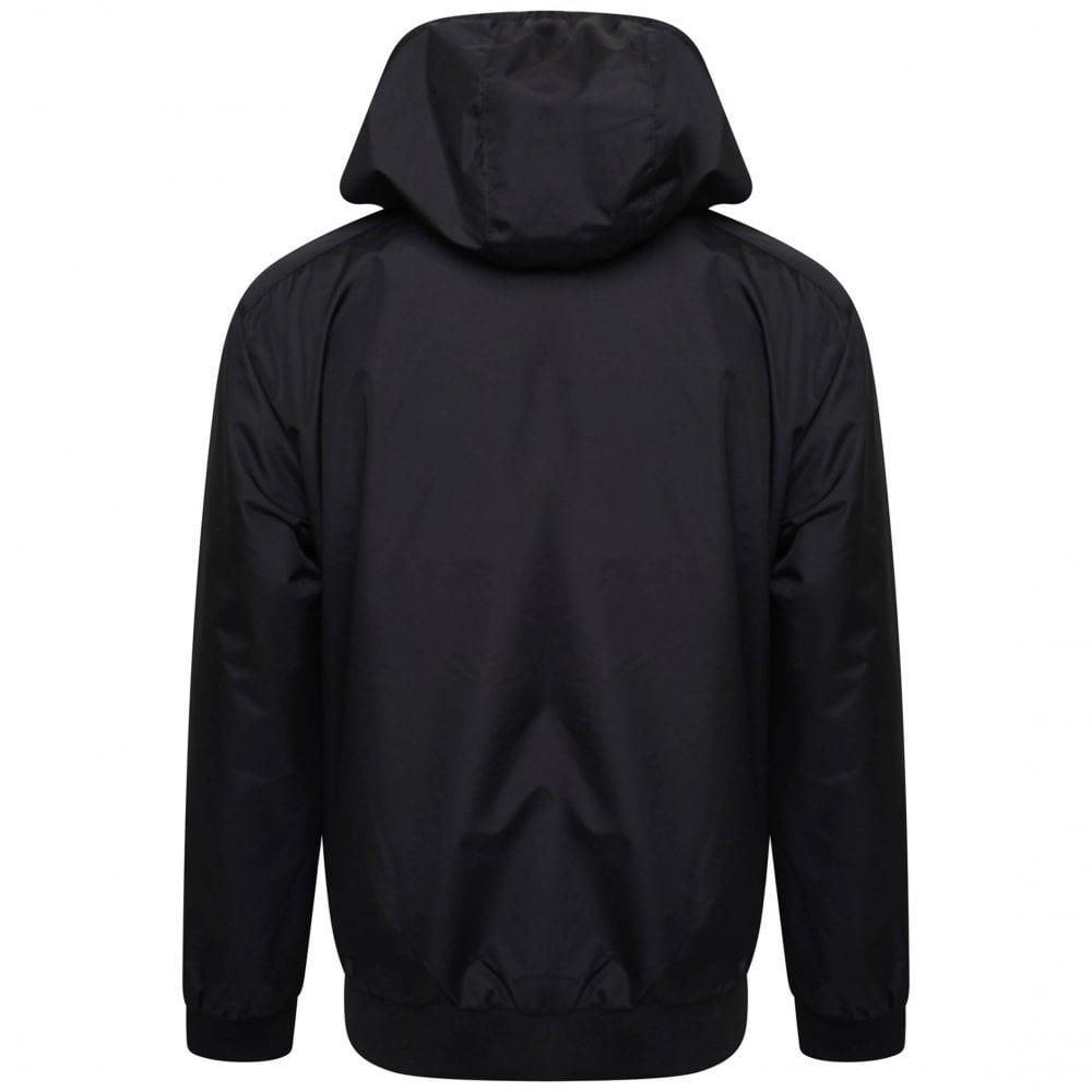 1e90f70ea Juniors Hooded Bomber Jacket (Black)