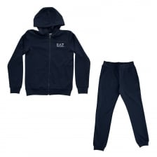 EA7 Juniors Hooded Track Suit (Navy)