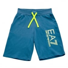 EA7 Juniors Leg Print Shorts (Blue)