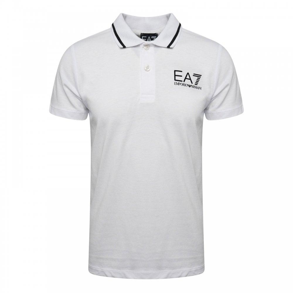 fb6061e4 EA7 Juniors Polo Shirt (White) - Polo Shirts from Loofes UK