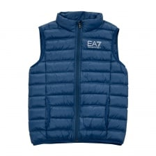 EA7 Juniors Quilted Down Sleeveless Gilet (Blue)