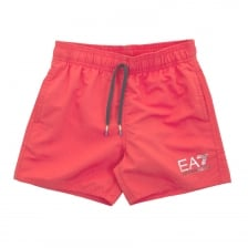 EA7 Juniors Swim Shorts (Red)