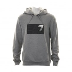 EA7 Mens 7 Line Logo Hooded Sweatshirt (Grey)