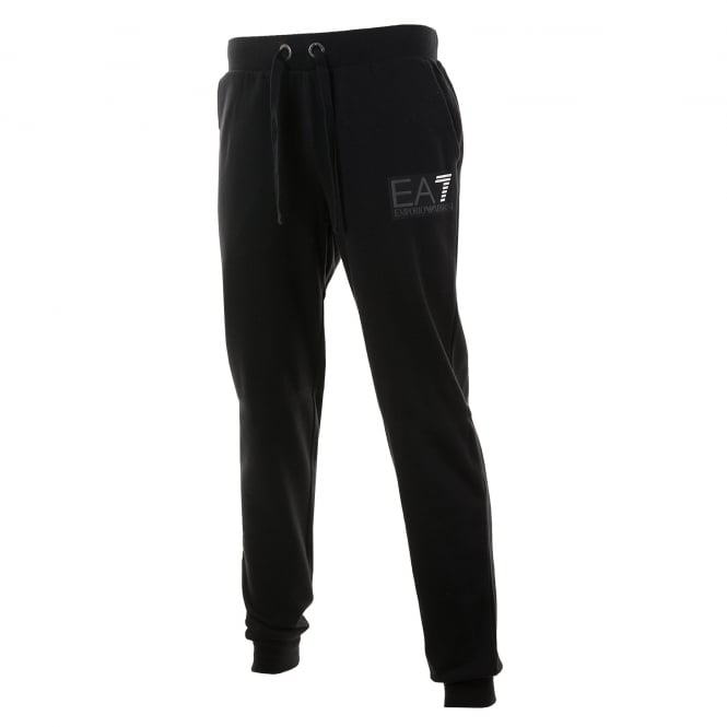 EA7 Mens 7 Line Logo Sweat Pants (Black)