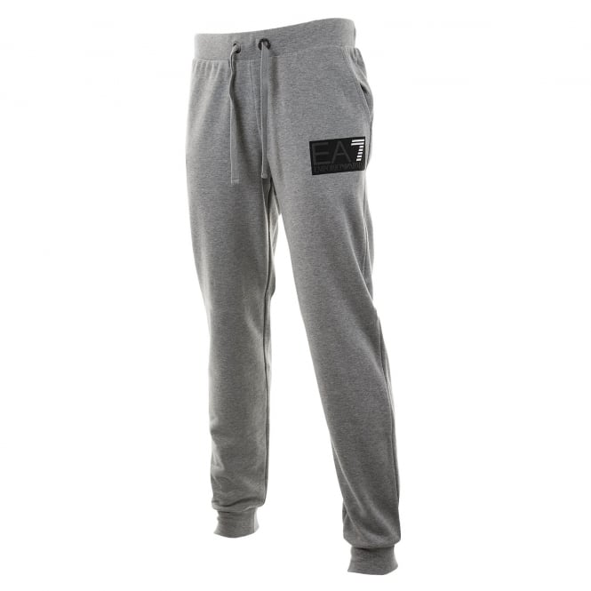 EA7 Mens 7 Line Logo Sweat Pants (Grey)