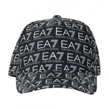 EA7 Mens All Over Logo Cap (Black)