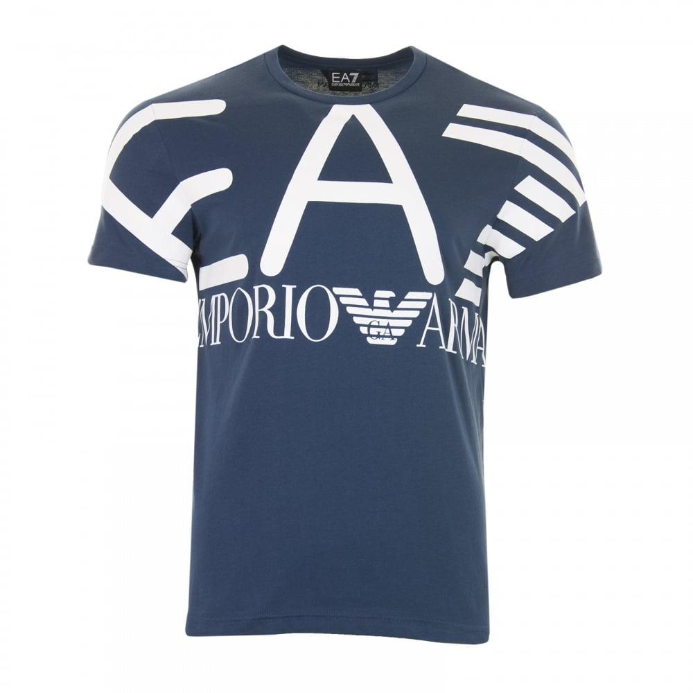 ea7 big logo t shirt