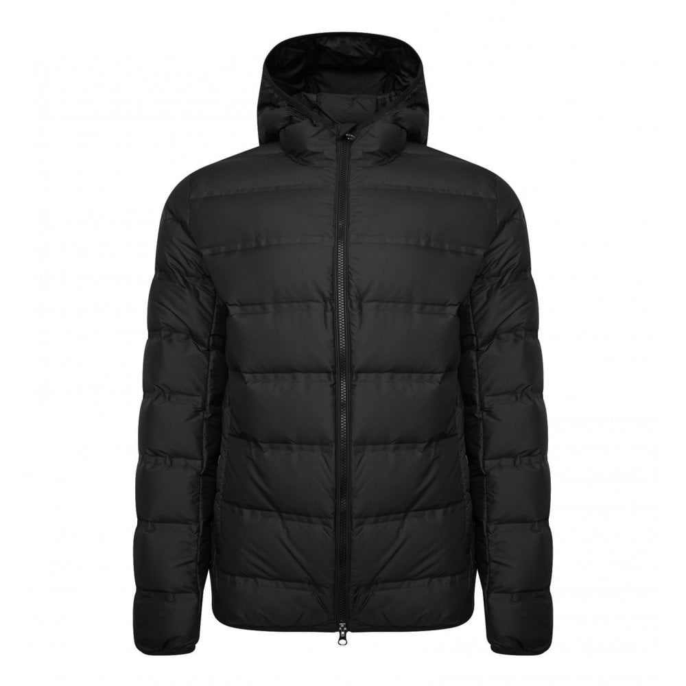 011deeb53035 EA7 Mens Duck Down Quilted Jacket (Black) - Mens from Loofes UK