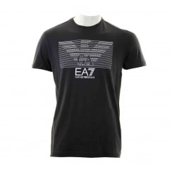 EA7 Mens Eagle Print T-Shirt (Black)