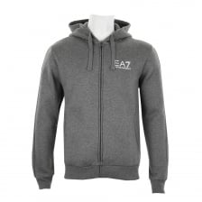 EA7 Mens Full Zip Hooded Sweatshirt (Dark Grey)