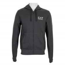EA7 Mens Full Zip Hooded Sweatshirt (Grey)