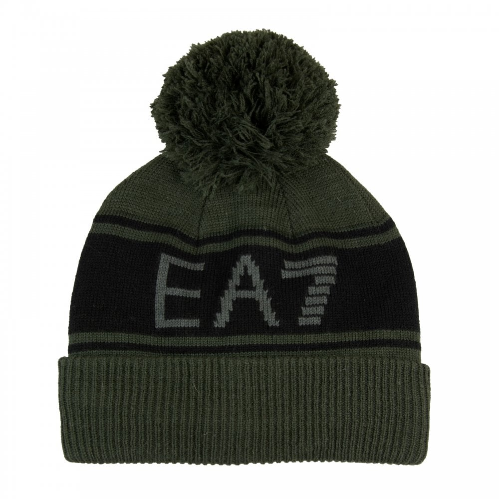 294c8f983f9 EA7 Mens Knitted Bobble Hat (Forest) - Mens from Loofes UK