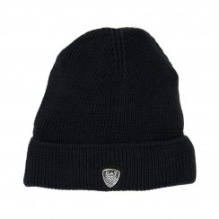 EA7 Mens Mountain Basic Knitted Beanie Hat (Navy)