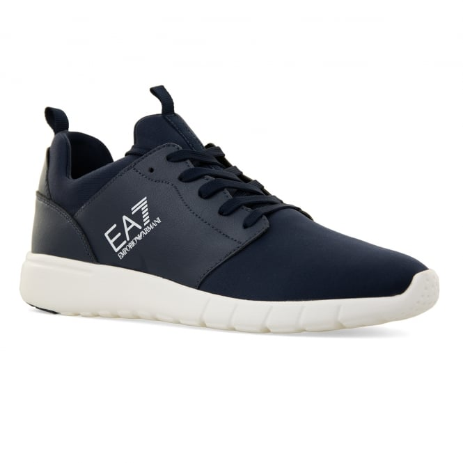 EA7 Mens New Racer Trainers (Navy)