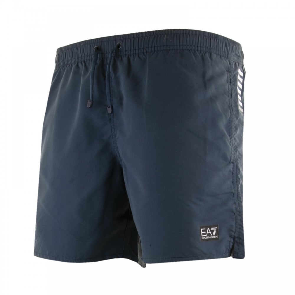 f216a568fed6c EA7 Mens Patch Logo Swim Shorts (Navy) - Mens from Loofes UK