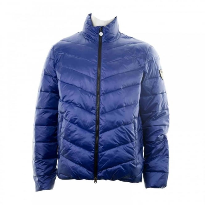 EA7 Mens Quilted Jacket (Blue)